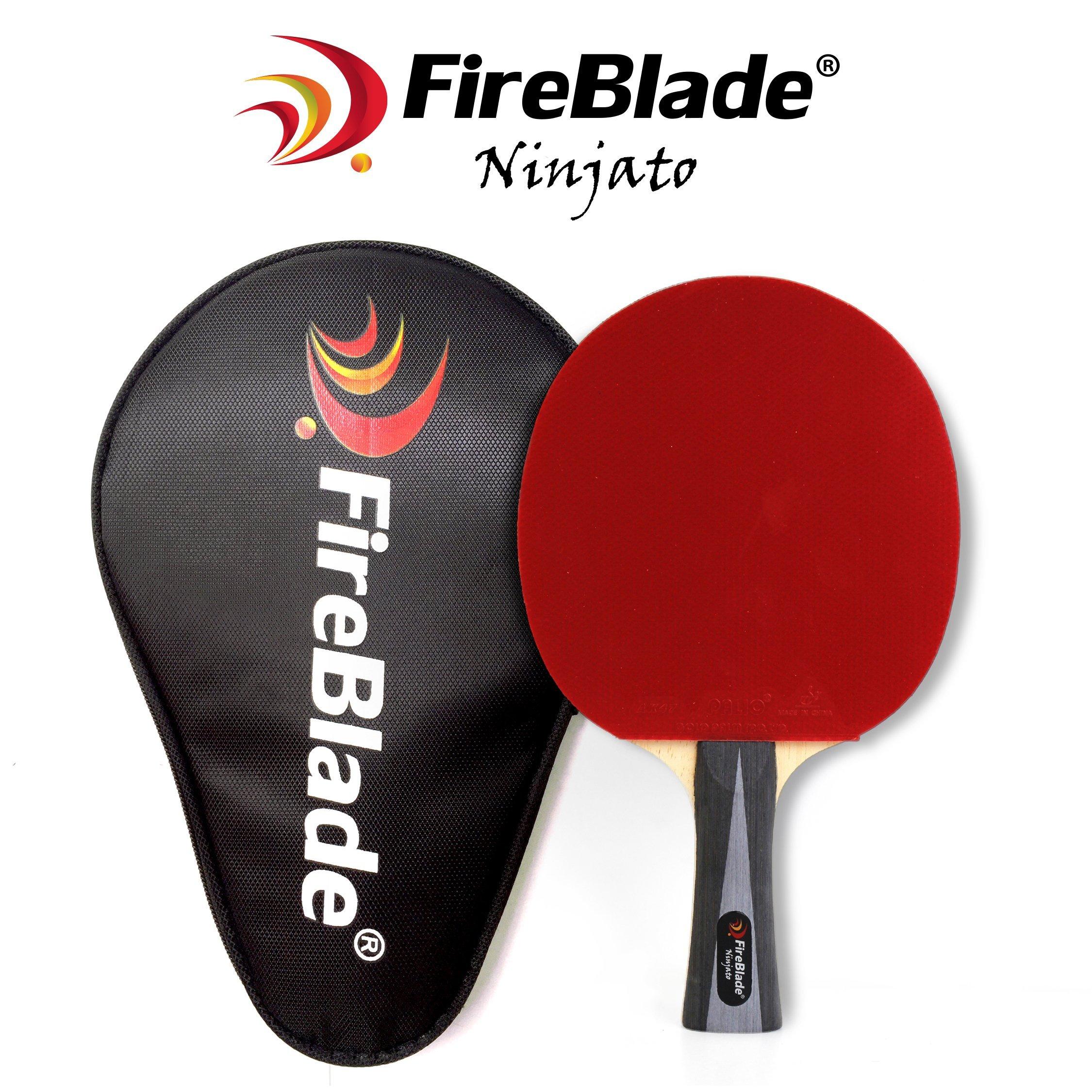 8db19c4c5 Fireblade Ninjato - Pala de tenis de mesa de carbono con funda - 5 capas  madera