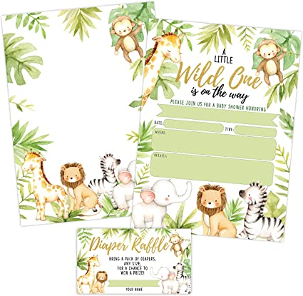Amazon Com Invitaciones Para Baby Shower De La Selva