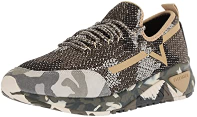 db3667344 Diesel Men's SKB S-KBY III Sneaker, Multicolor Army, ...