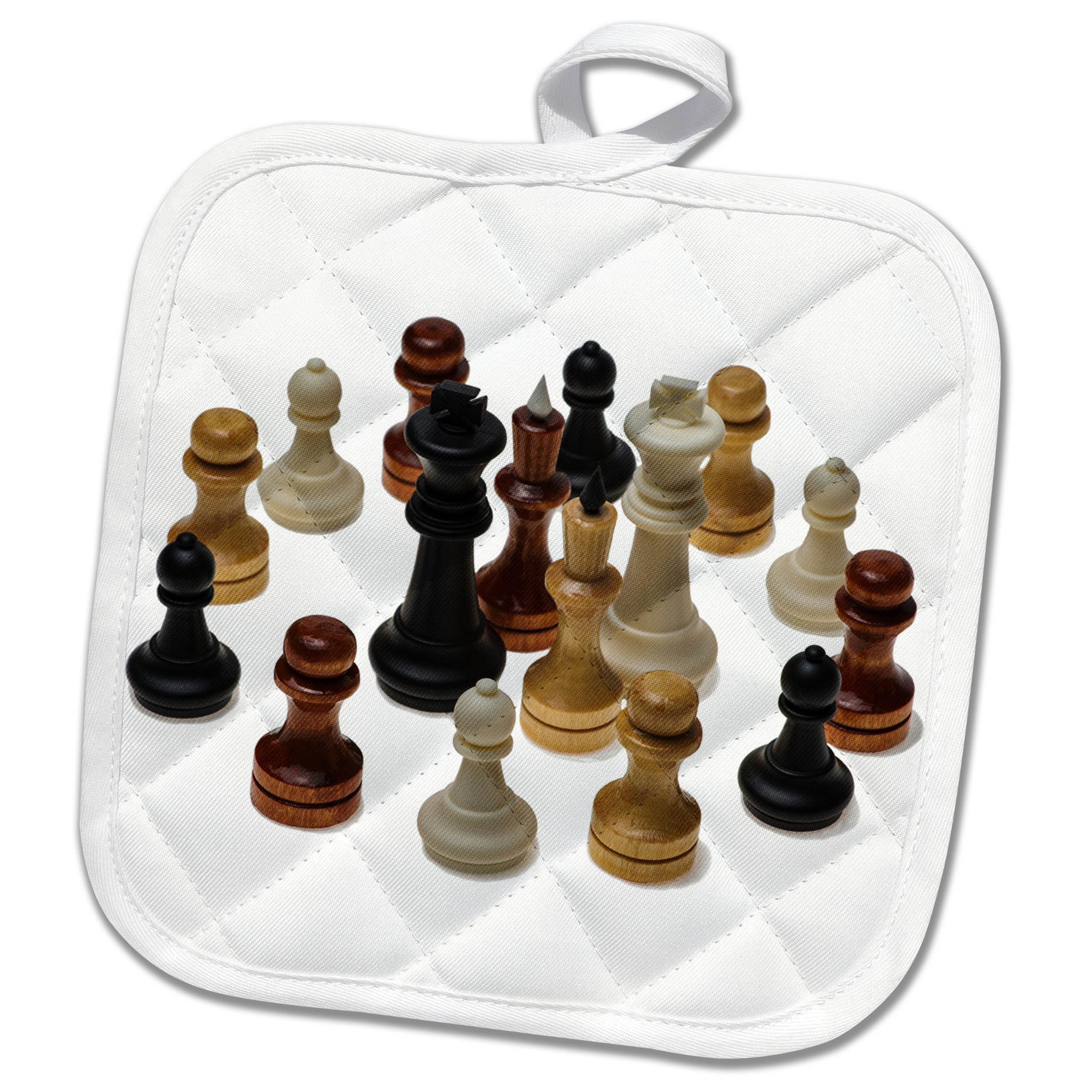 3dRose Alexis Photography - Objects - Chess kings, queens, pawns. Variety of colors. Fraternity and unity - 8x8 Potholder (phl_264261_1)