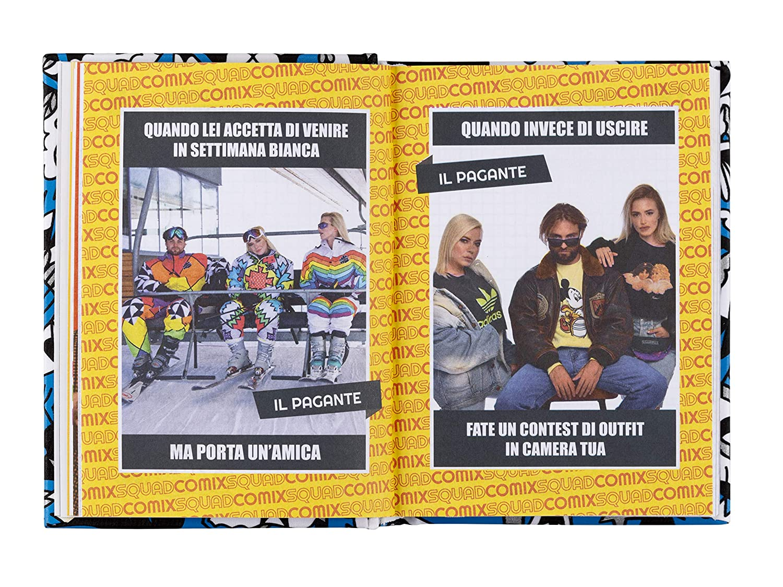 corallo scritta bianca Comix Diario 2019//2020 datato 16 mesi formato Mini 11x15.3 cm