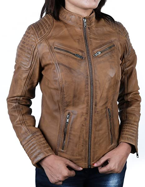 f3bd997de10 Urban Leather Corto Biker - Chaqueta de piel