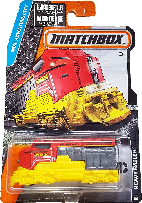 Red Matchbox 2016 MBX Adventure City Heavy Railer Train 1//125