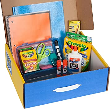 Amazon.com : School Tool Box First Grade Basic School Supplies Kit in  Keepsake Box : Artists Crayons : Office Products