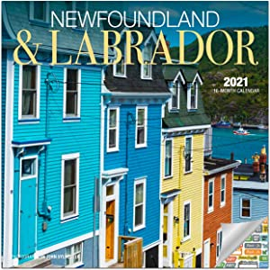 Newfoundland & Labrador Canada Calendar 2021 Bundle - Deluxe 2021 Labrador Mini Calendar with Over 100 Calendar Stickers (Canada Gifts, Office Supplies)