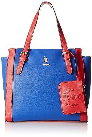 US POLO Association, Alex Tote Shoulder Bag, Red, One Size U.S.Polo Association