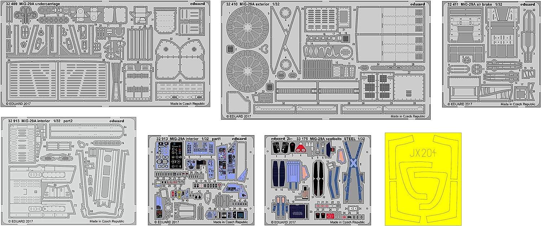 Various Eduard EDBIG3381 Big Ed 1:32-MiG-29A Fulcrum Model Kit Photo Etch Set