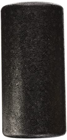 CanDo High Density Half Roller, Black, 6 x 12 Inch