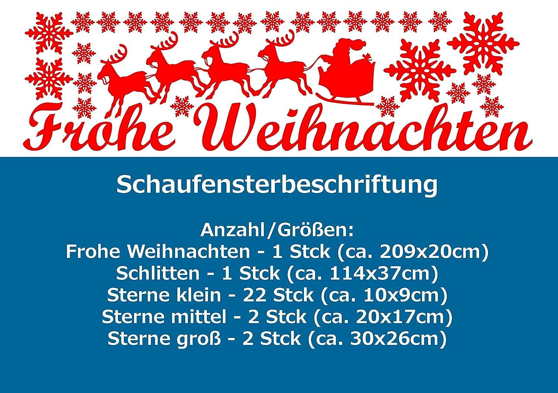 SH24 \'Frohe Weihnachten\' - Schaufenster Beschriftung Aufkleber ...
