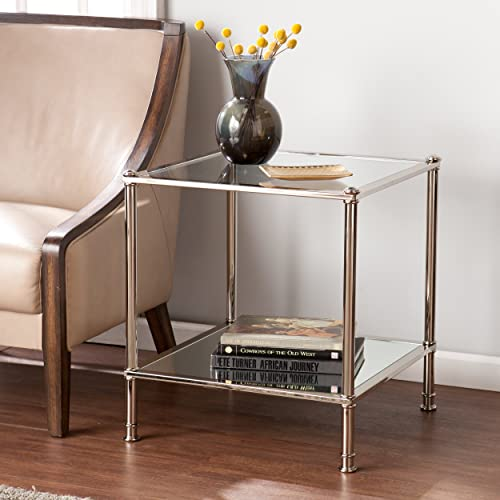 Southern Enterprises Paschall End Table, Metallic Silver Finish