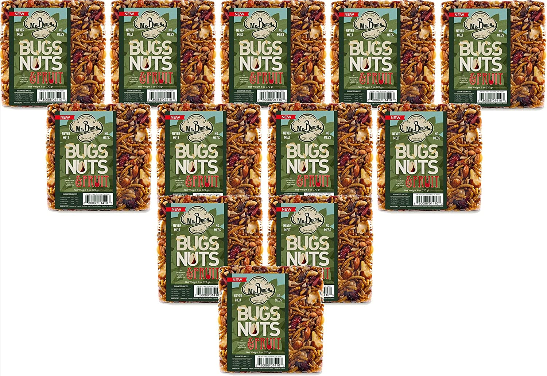 12-Pack of Mr. Bird Bugs, Nuts, & Fruit Small Wild Bird Seed Cake 6 oz.