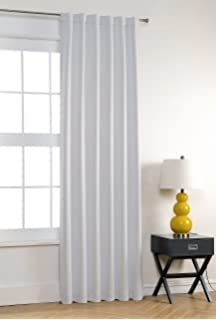 mysky home back tab rod pocket thermal insulated blackout curtains drapes for living room