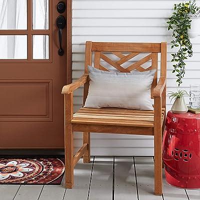 Mozaic AMZ176021SP Pillow, Grey Ombre : Garden & Outdoor