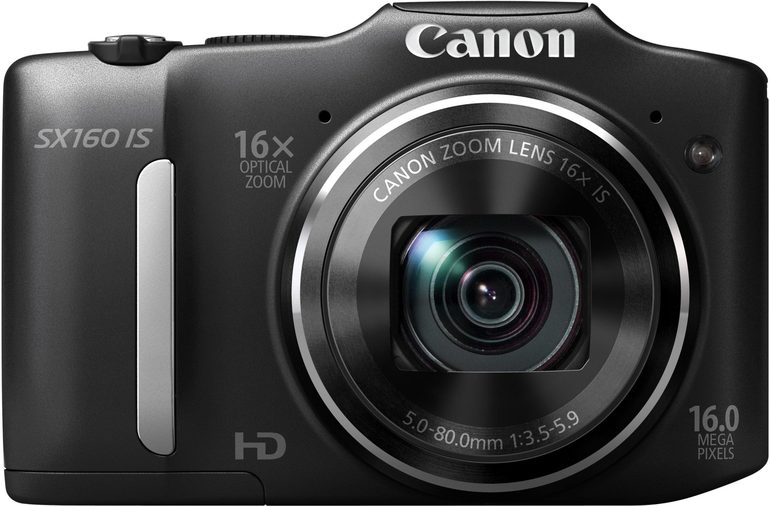 """Canon PowerShot SX160 IS - Cámara digital compacta de 16 Mp (pantalla de 3"""", zoom óptico 16x, estabilizador de imagen óptico), color negro product image"""