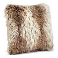 "Fabulous Furs: Faux Fur Luxury Pillow, Russian Lynx, Available in standard size 18""x18"" and Euro size 24""x24"", by Donna Salyers"