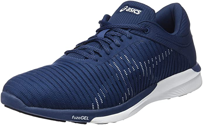 Asics Fuzex Rush Adapt, Zapatillas de Running para Hombre, Azul (Dark Blue/White/Smoke Blue 4901), 46.5 EU: Amazon.es: Zapatos y complementos