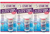 LEISURE TIME 3 pack Spa/Hot Tub Chlorine Test Strips
