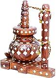 ARZ Rosewood Decorative Butter Churner (13.5 cm x 9.5 cm x 18 cm, Brown)