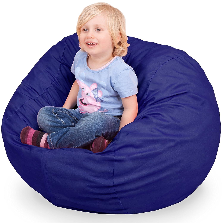 Amazon Oversized Bean Bag Chair in Sapphire Blue Machine