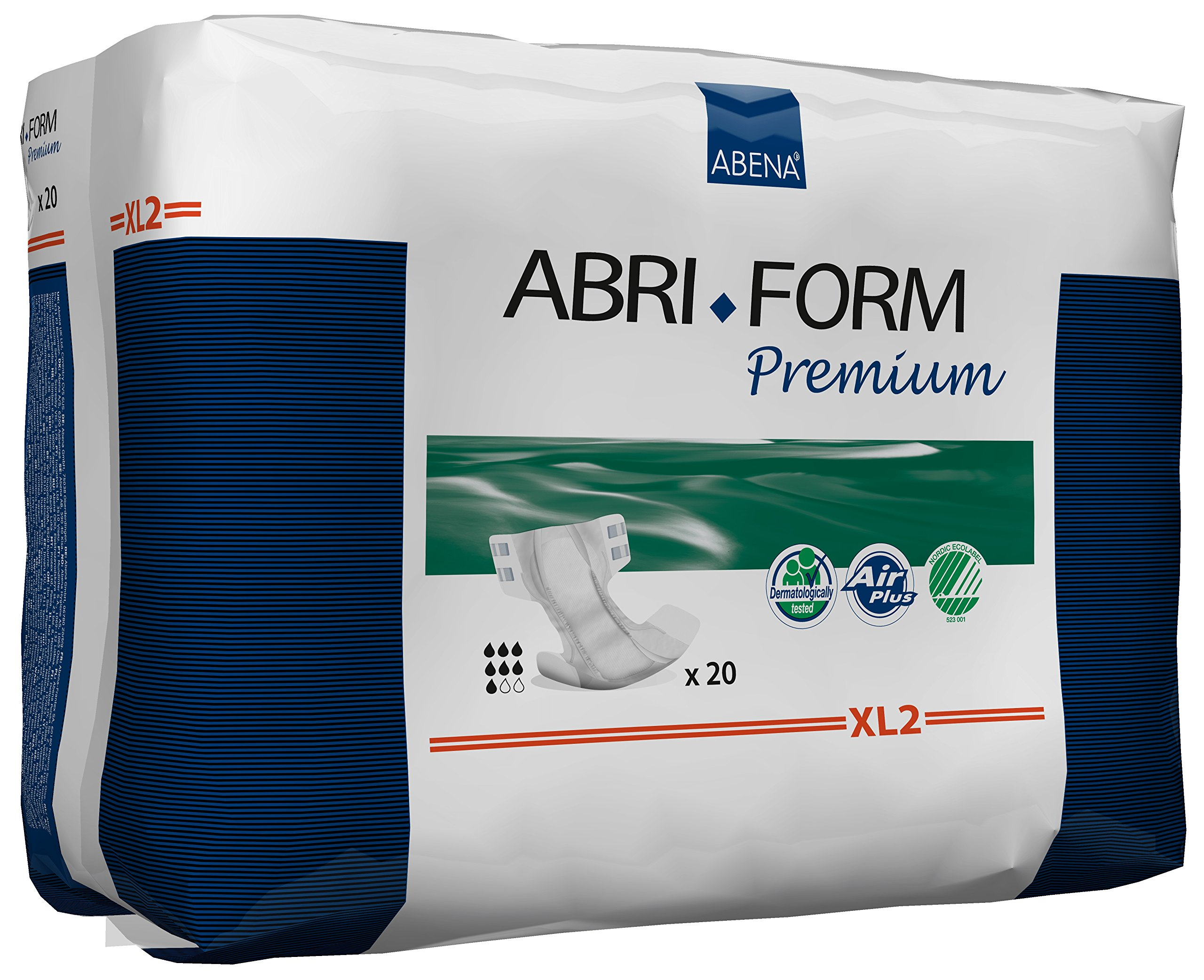 Abena Abri-Form Premium Incontinence Briefs, Extra Large, XL2, 80 Count (4 Packs of 20)