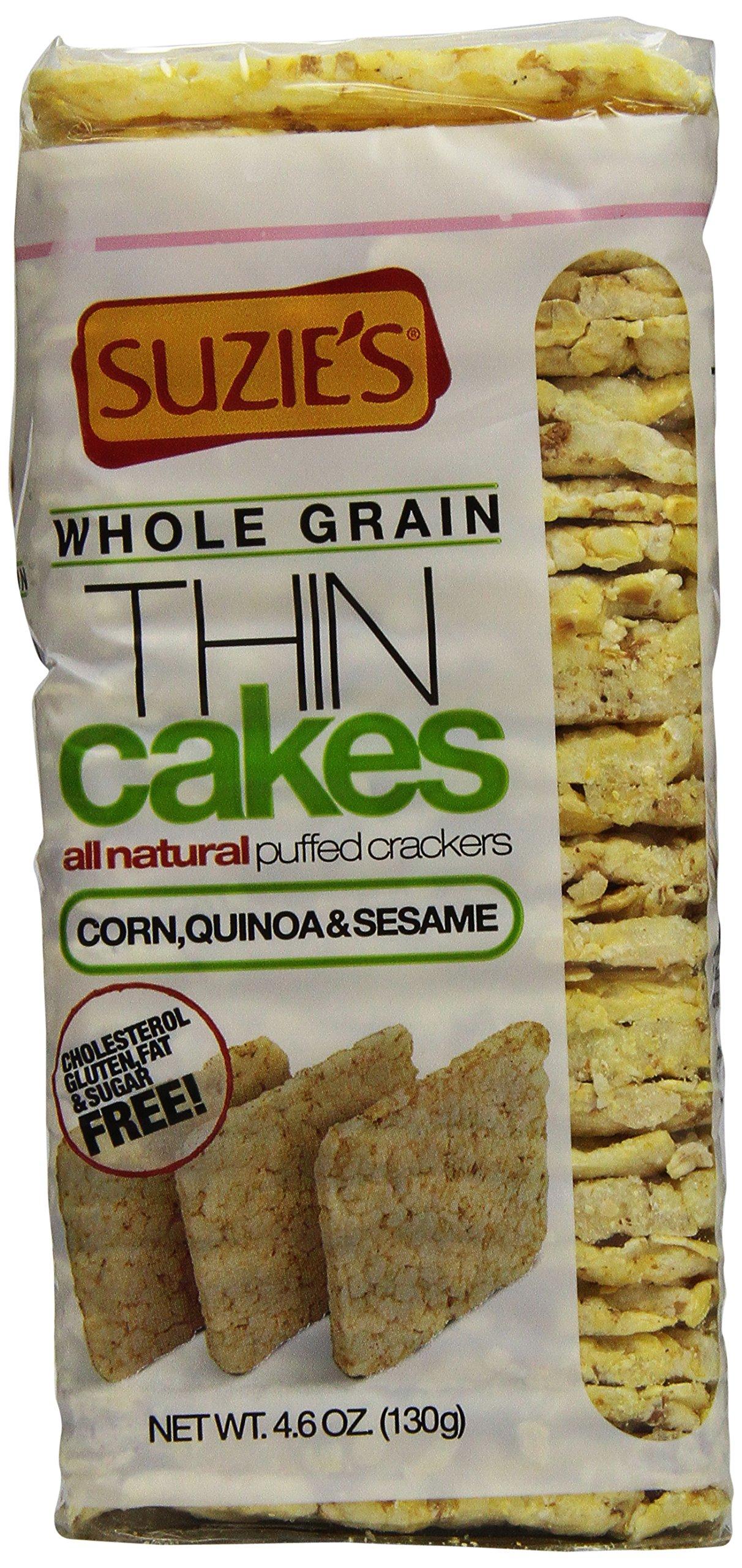 Suzie's Whole Grain Thin Cakes, Puffed Corn Quinoa and Sesame, 4.6 oz