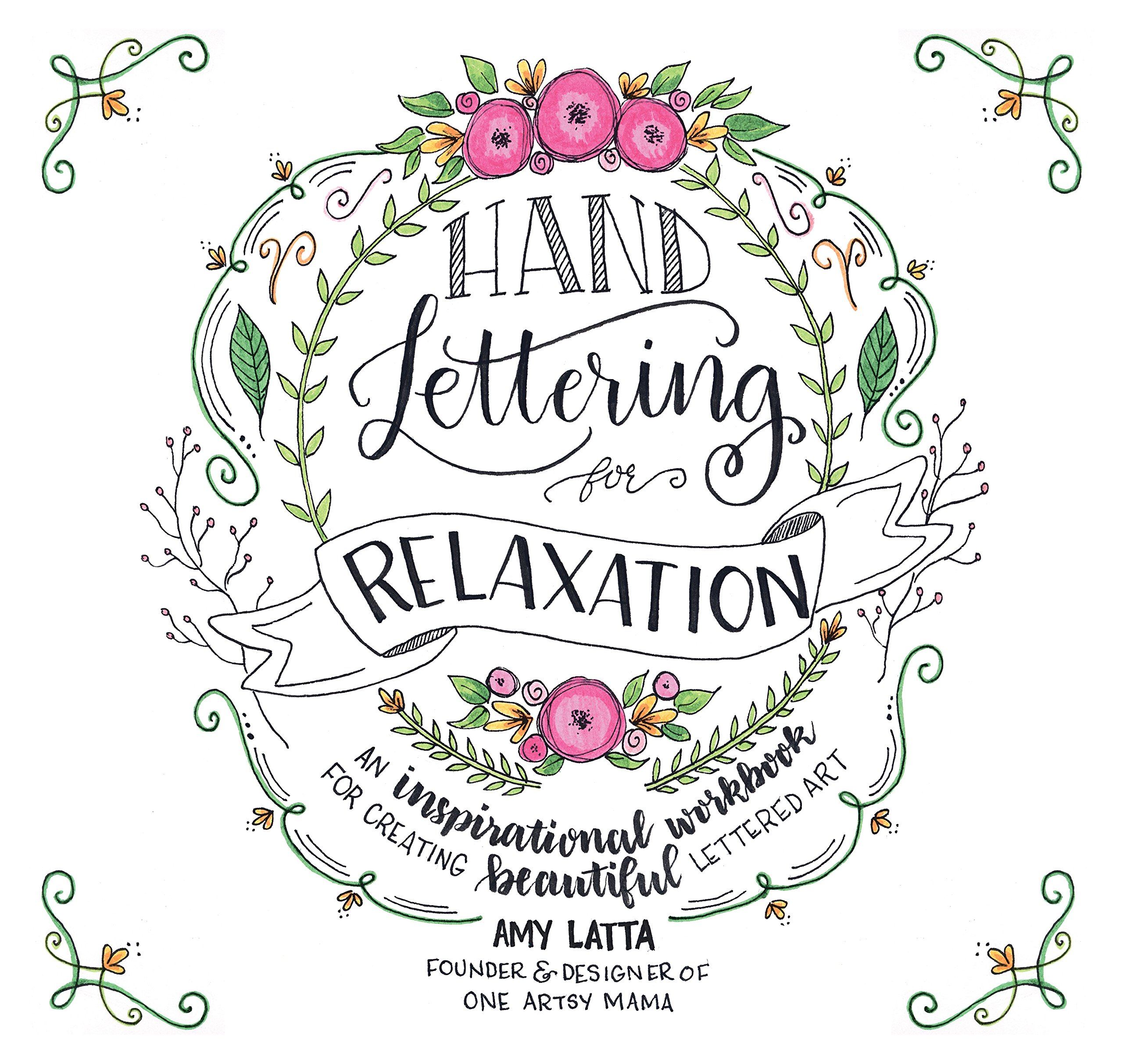 Amazon com: Hand Lettering for Relaxation: An Inspirational