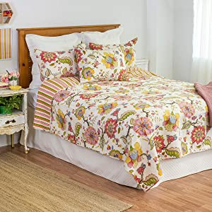 C&F Home Celine Full/Queen Quilt Full/Queen Quilt Pink, White