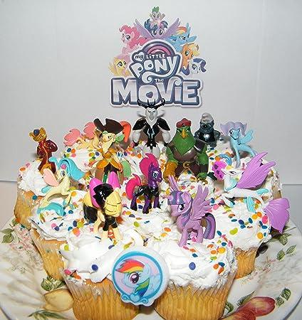 Amazon.com: My Little Pony The Movie Deluxe Mini Cake Toppers ...