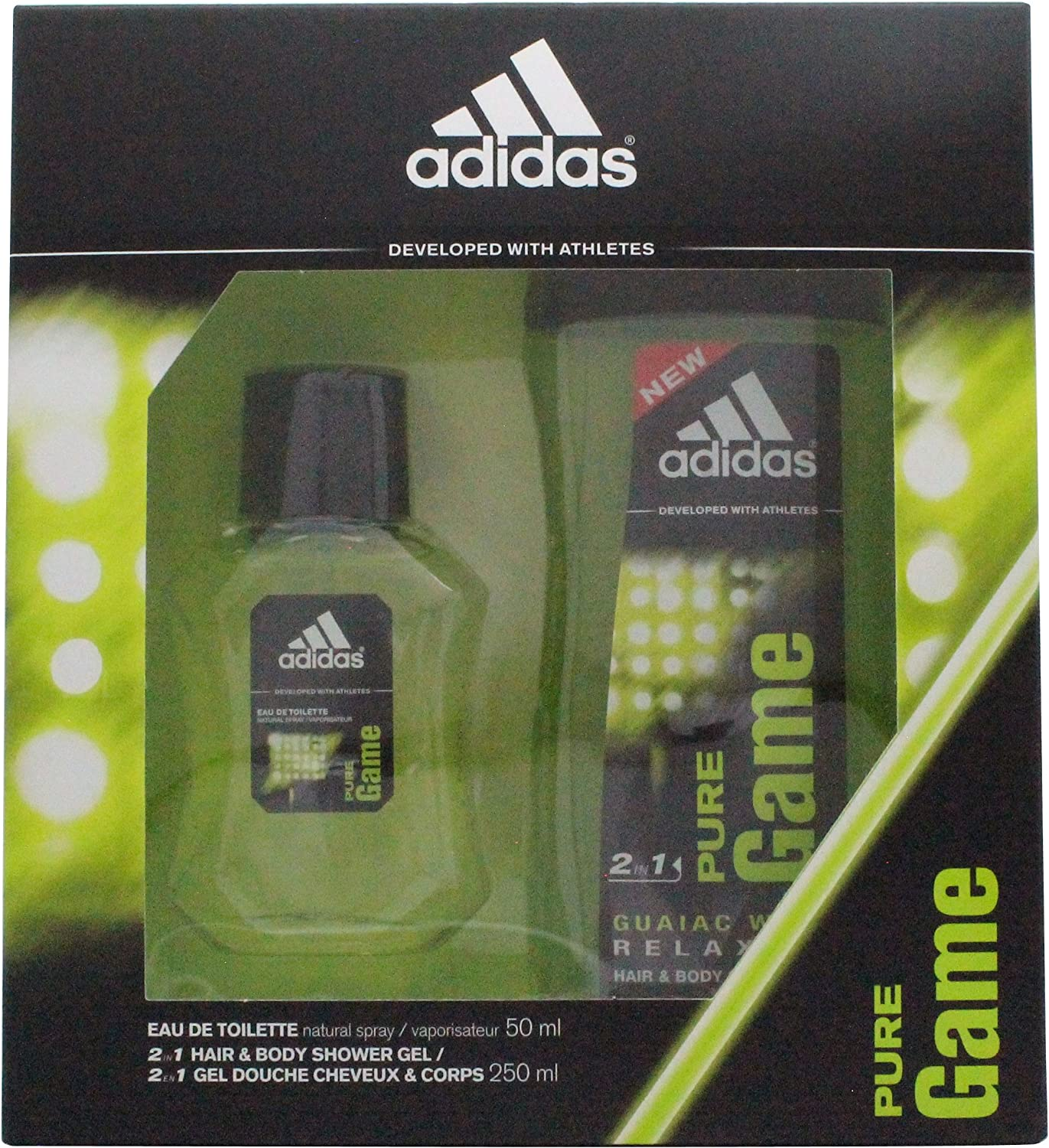 ESTUCHE EAU DE TOILETTE SPRAY 50ML + GEL DOUCHE 250ML PURE GAME: Amazon.es: Belleza