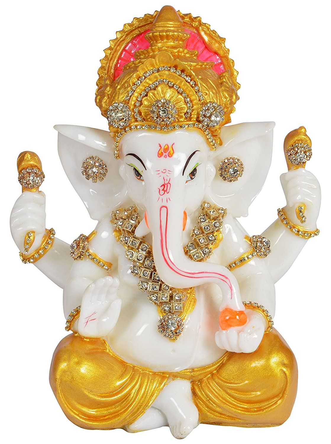 Buy Riddhi Siddhi Crafts Creations Polyester Ganesha Idol 15 24