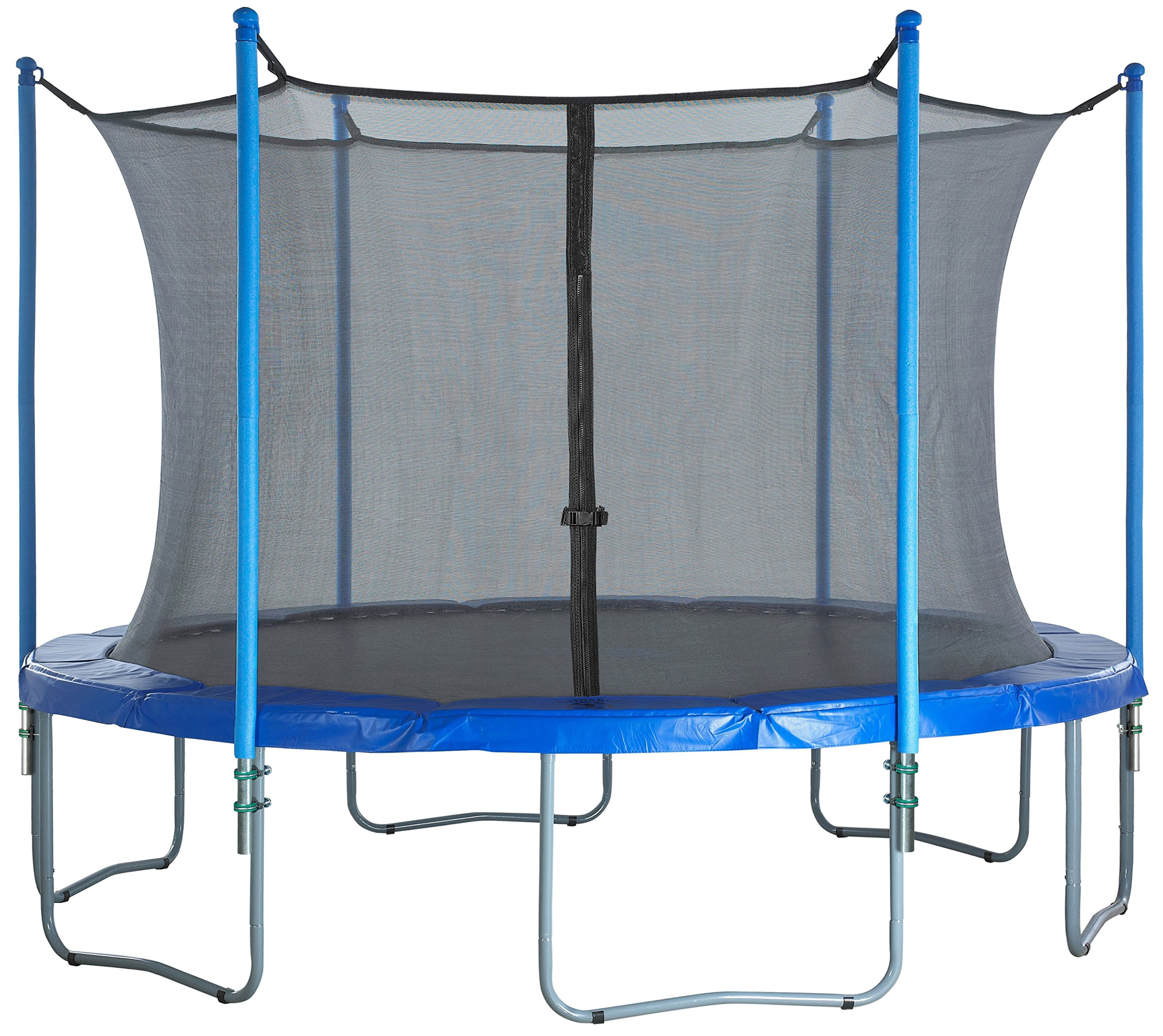 Trampoline Enclosure Set for round 15-Ft | Trampoline net replacement | Trampoline net with poles | Replacement trampoline parts | Outdoor trampoline replacement net for trampoline nets |fits 3 & 6 W-Shaped Legs by Upper Bounce (Image #7)