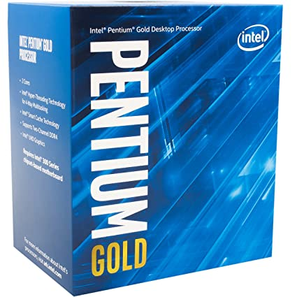Intel Pentium Gold G5400 Desktop Processor 2 Core 3.7GHz LGA1151 300 Series 54W/58W BX80684G5400 Processors at amazon