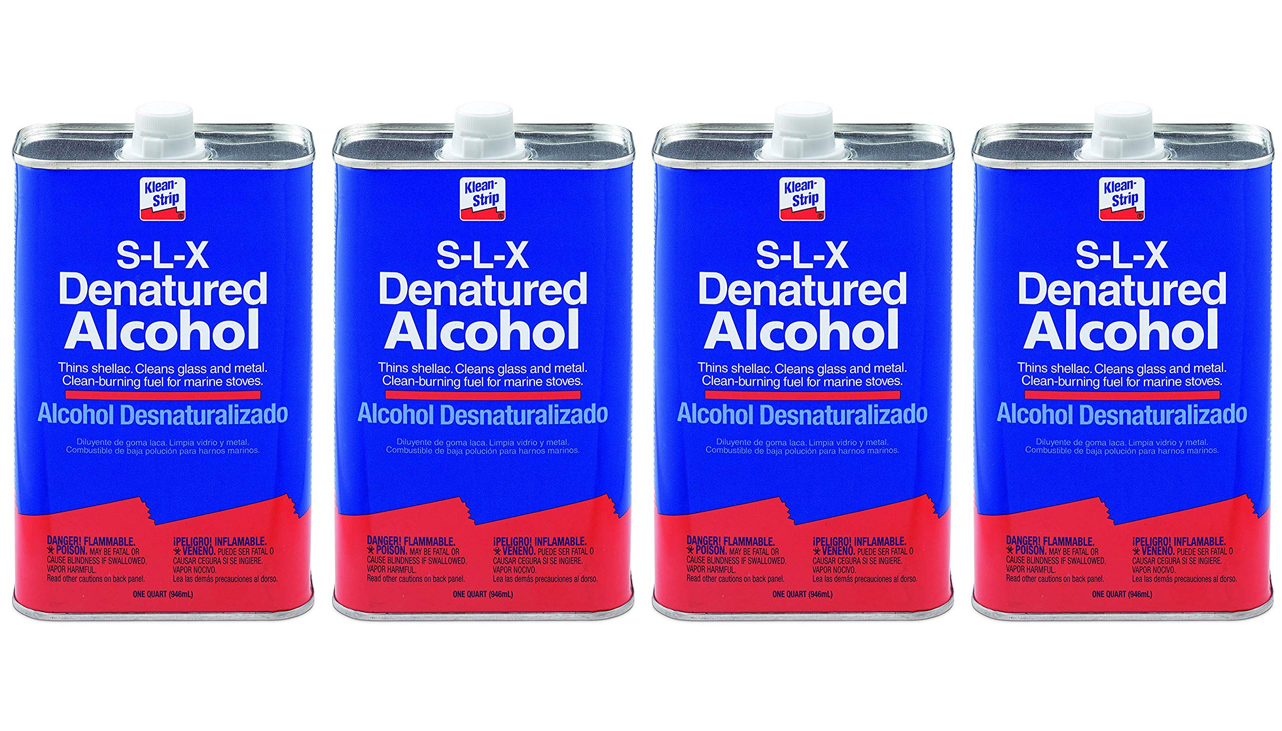 Klean-Strip QSL26 Denatured Alcohol, 1-Quart (Fоur Paсk)