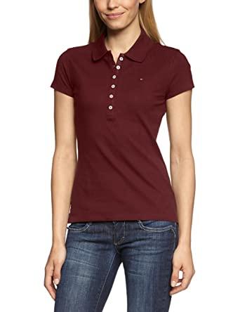 db174dcb17c Tommy Hilfiger Women's Short Sleeve Polo Shirt - Red - X-Small: Amazon.co.uk:  Clothing
