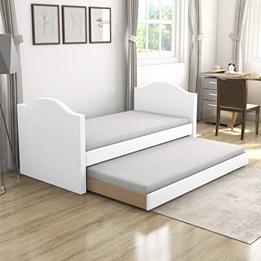 Boyd Sleep Daybed, Leatherette, White, Full: Amazon.co.uk: Kitchen & Home