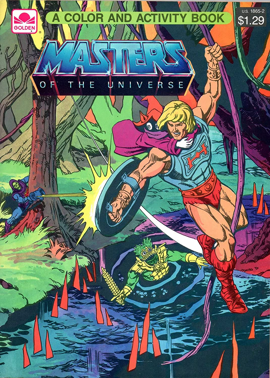 MASTERS OF THE UNIVERSE Farbe & Activity Book (Ausmalbuch): Golden Book 1985