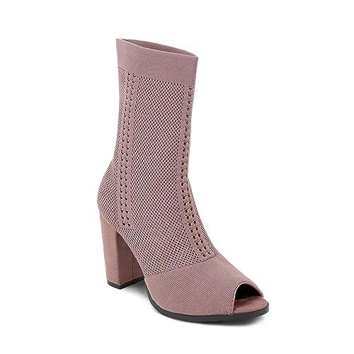 Olivia Miller Botines de tacón Grueso de Franklin para Mujeres 6.5 B(M) US Rosado: Amazon.es: Zapatos y complementos