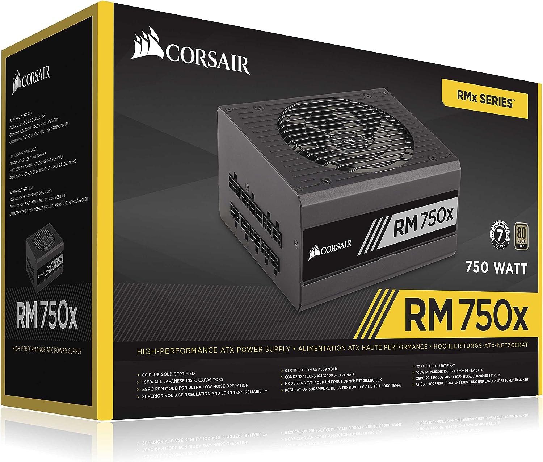 Modular ATX Power Supply CP-9020179-EU Corsair RM750x 80 Plus Gold Fully Modular ATX Power Supply