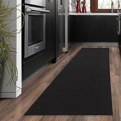 a15f8a33cf0 Amazon.com  Ottomanson Ottohome Collection Solid Design Hallway Kitchen  Runner Rug (Non-Slip) Rubber Backing Area Rug