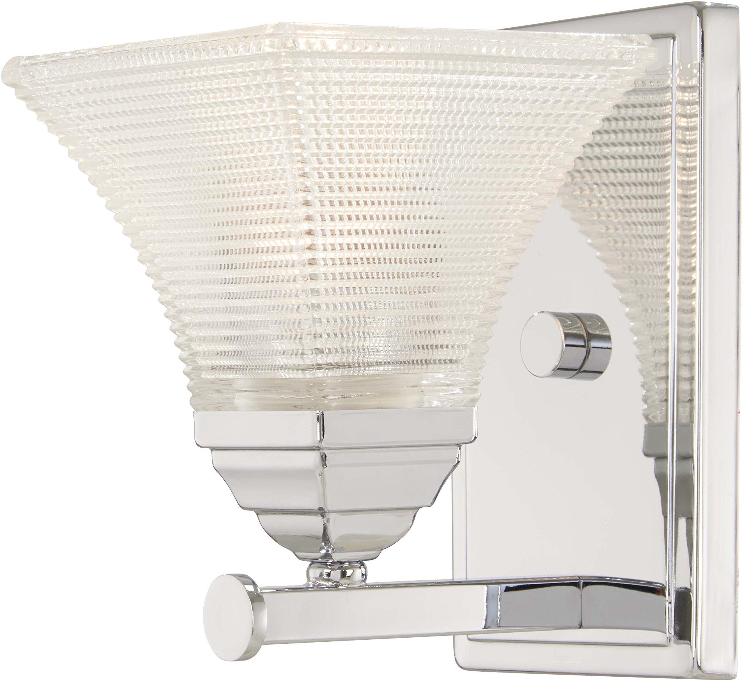Minka Lavery Wall Sconce Lighting 4781-77 Conspire Wall Lamp Fixture, 1-Light 60 Watts, Chrome