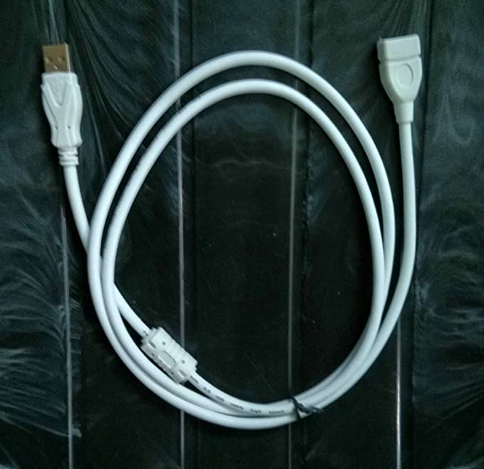 PremiumAV 1.5 Meter USB Extension Cable  White  USB Cables