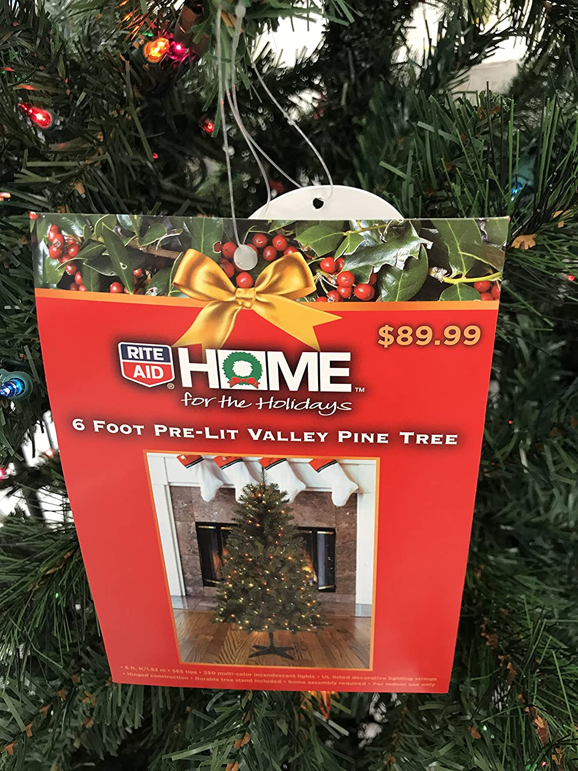 Rite Aid Christmas Hours.Amazon Com Rite Aid 6 Ft Spruce Hinged Artificial