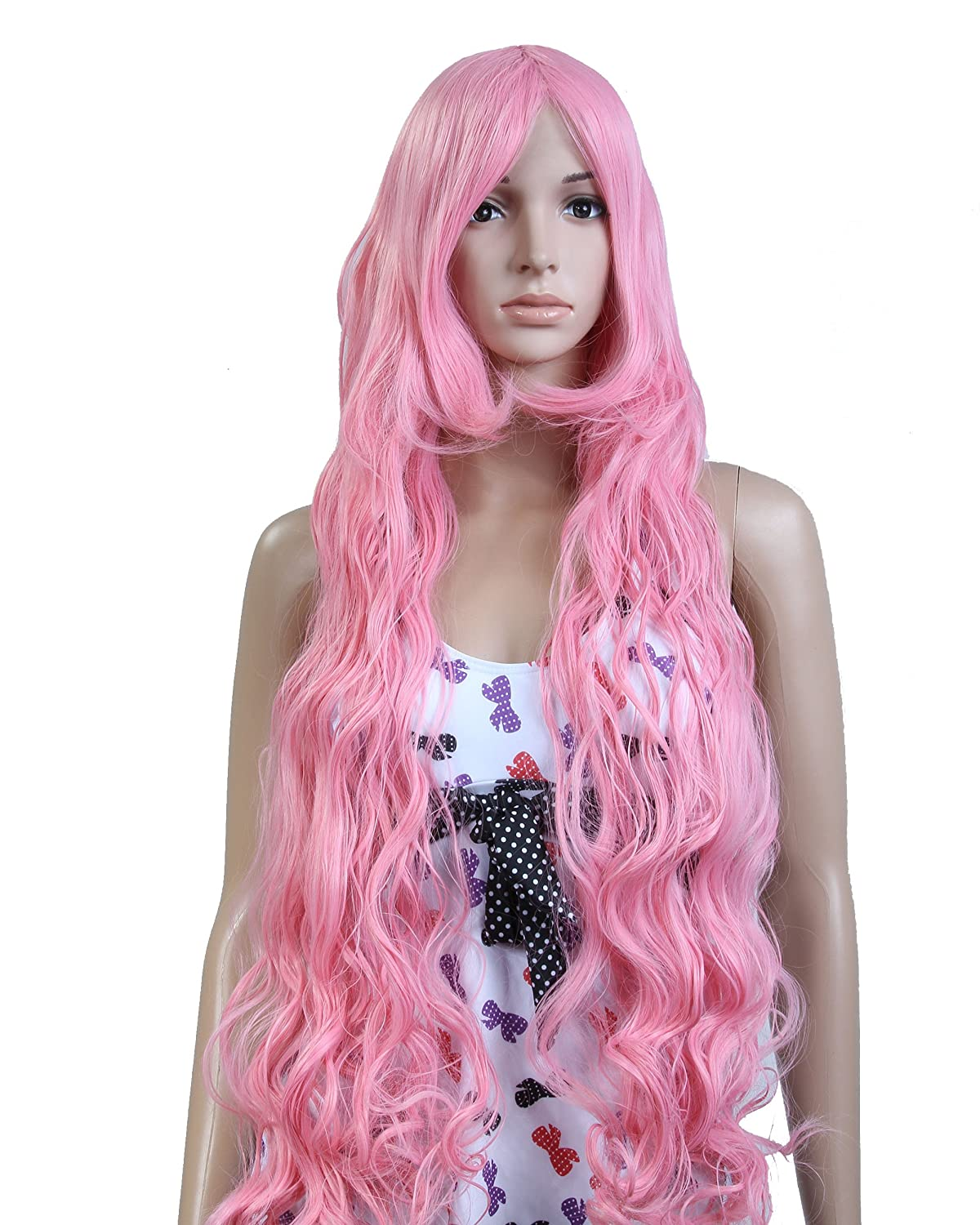 Amazon Cool2dayR Anime Costume Long Curly Pink Hair Cosplay Party Wig ModelJF010124 Beauty