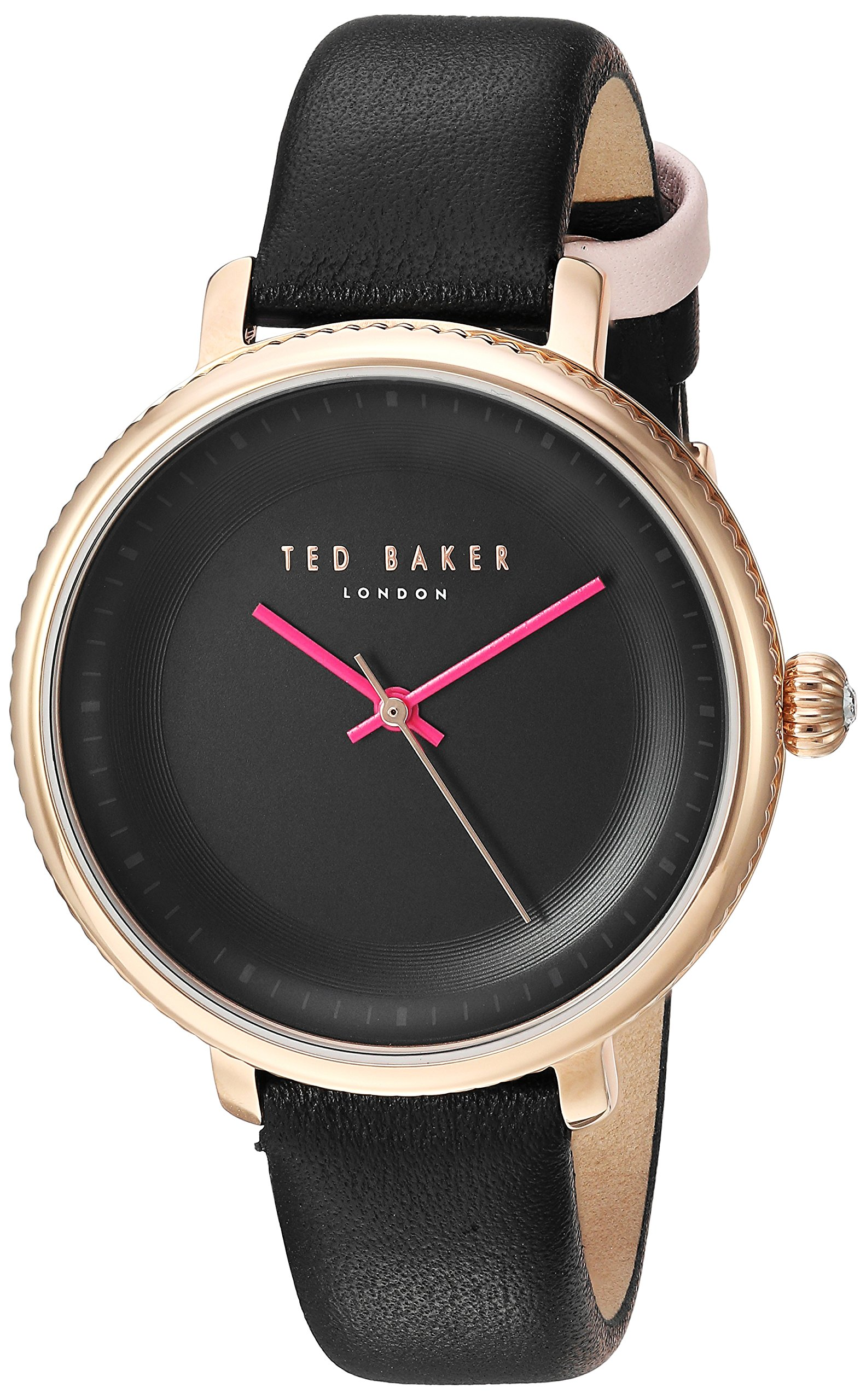 Ted Baker Women's 'ISLA' Quartz Stainless Steel and Leather Dress Watch, Color:Black (Model: 10031531)