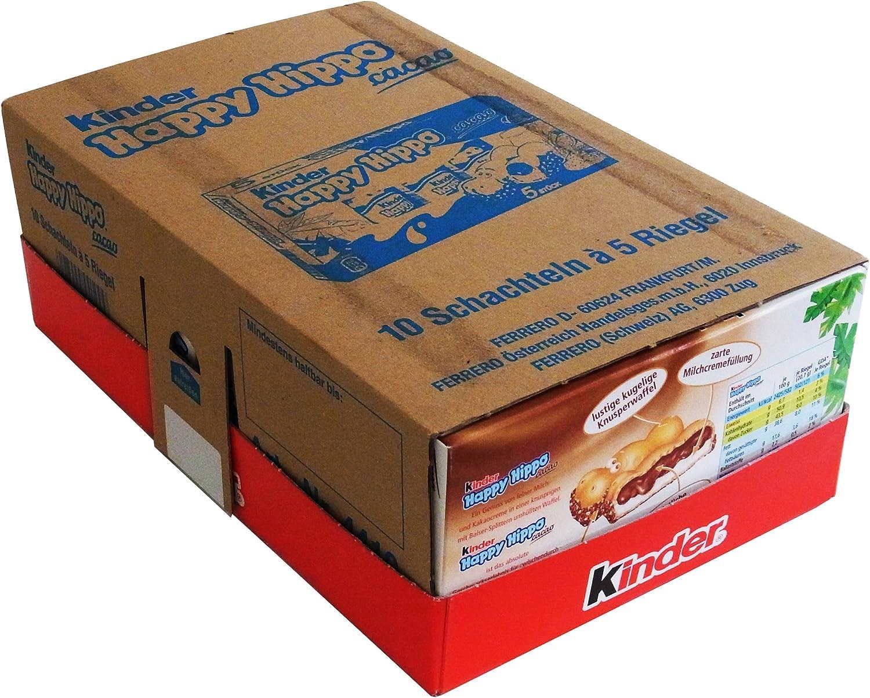 Ferrero Kinder Happy Hippo Snack Cacao 100g (pack of 10): Amazon ...