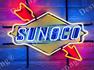 "Desung 19""x15"" Sunoco Gas Gasoline Motor Oil Neon Sign Light Lamp (VariousSizes) HD Vivid Printing Technology Handmade Beer Bar Pub Man Cave HD34"