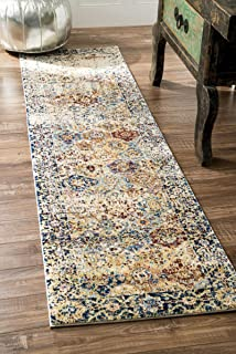 traditional vintage floral loop multi runner area rugs 2 feet 1 inches by 8 feet