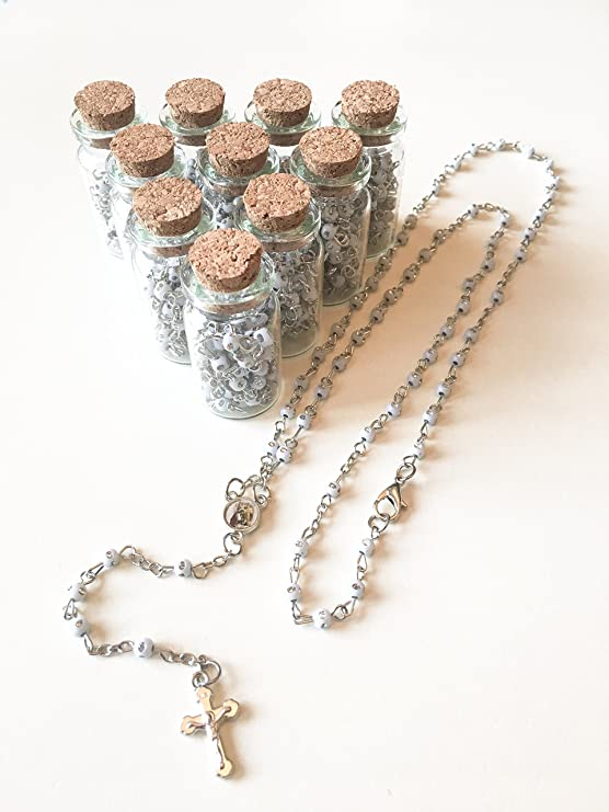 Amazon.com: 12 X NEW ROSARY BOTTLE BOY FIRST COMUNION ...