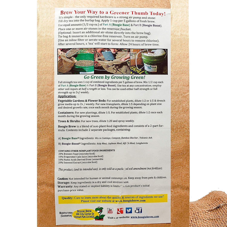 Amazon com: Boogie Brew Compost Tea 2 Part Formula, 6 Pounds