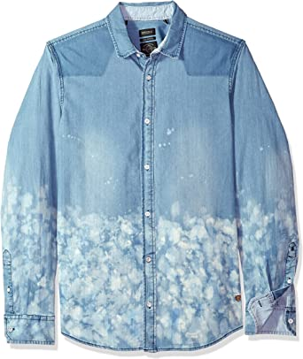 Buffalo David Bitton Mens Sindho-x Regular Stretch Long Sleeve Button Down Shirt
